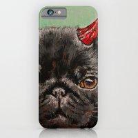 Black Pug iPhone 6 Slim Case