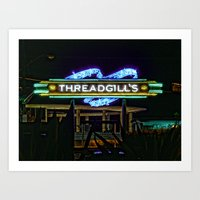 Threadgills ~ Austin, Texas Art Print