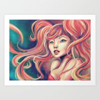 Technicolor Mermaid Art Print