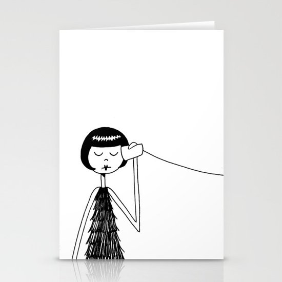 Eloise and Ramona play telephone - Part 1 Stationery Card