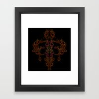 Ink Blot (Light) Framed Art Print