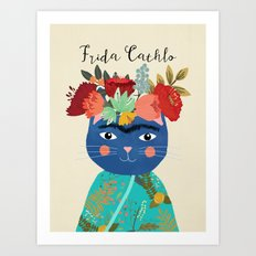 Frida Cathlo Art Print