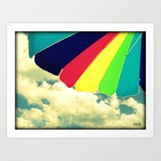 Under my umbrella Art Print