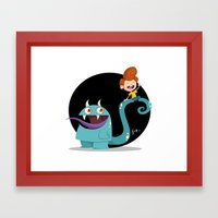 Monter Pet Framed Art Print