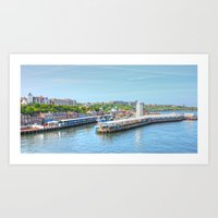 Newcastle By The Sea Art Print