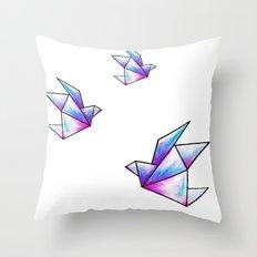 Origami Pastels Throw Pillow