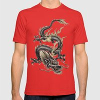 Lucky Chinese Dragon In … Mens Fitted Tee Red SMALL