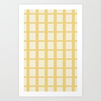 Yellow & White  Art Print