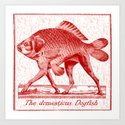 IF FISHES HAD LEGS (red) Art Print