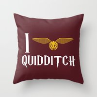 I love Quidditch Throw Pillow