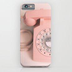 vintage PHONE pink iPhone 6 Slim Case