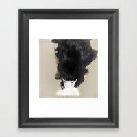 Blush Watercolor Girl Framed Art Print