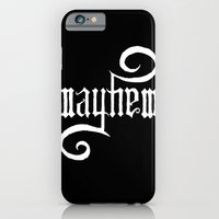 iPhone & iPod Case featuring Unleash MAYHEM (Black) by Daniel Viberg