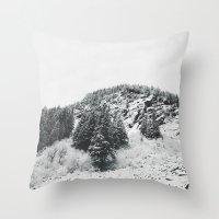 MONTANA BEAUTY in the BLACK & WHITE Throw Pillow
