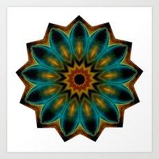 encircled mandala Art Print