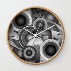 Monochrome Mayhem  Wall Clock