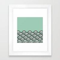 Waves Mint Framed Art Print