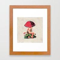 Shroom Girl Framed Art Print