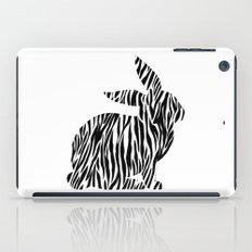 Rabbit with zebra print iPad Case