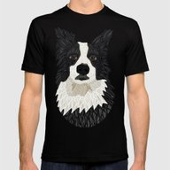 Beautiful Border Collie Mens Fitted Tee Black SMALL