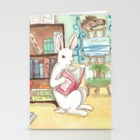 Bookstore Bunnies Stationery Cards