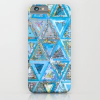 Blue Triangle Map Collage iPhone 6 Slim Case