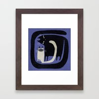 CONTRAST CATS Framed Art Print