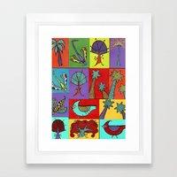Quilt Blocks Framed Art Print