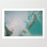 Bubble Feet Art Print