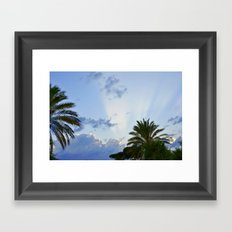 Palms on Clouds  Framed Art Print