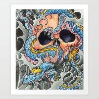 Asian Skull 2 Art Print