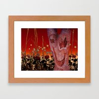 A Spook In The Thistles Framed Art Print