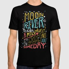 MOON RIVER SMALL Mens Fitted Tee Black