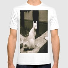 Concrete Cat Mens Fitted Tee SMALL White