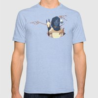 Hunter Gather Mens Fitted Tee Tri-Blue SMALL