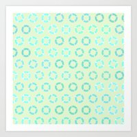 RING FLOAT PATTERN Art Print