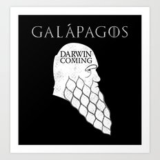 Darwin is Coming Art Print