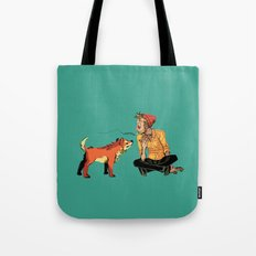 pet the dog Tote Bag