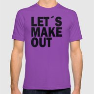 Let´s Make Out Mens Fitted Tee Ultraviolet SMALL