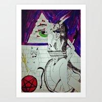 Demon Works Art Print