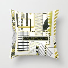 Lill Bit of Gold Throw Pillow
