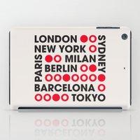 I Love This City Typography iPad Case