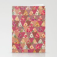 GEOMETRIC MODERN FLOWERS Stationery Cards