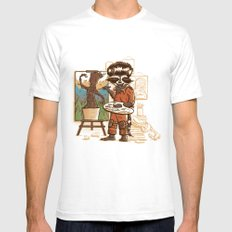 Happy Little Groots SMALL Mens Fitted Tee White