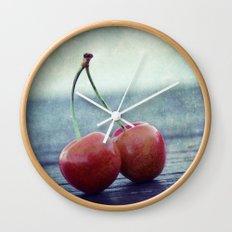 Cherry Kiss Wall Clock