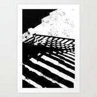 Steps And Shadows Art Print
