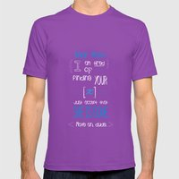 Dear Math (blue)  Mens Fitted Tee Ultraviolet SMALL