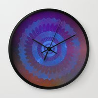 Technicolor Cosmos Blue Wall Clock