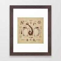 Le Coffee (Fluid of Creativity) Framed Art Print
