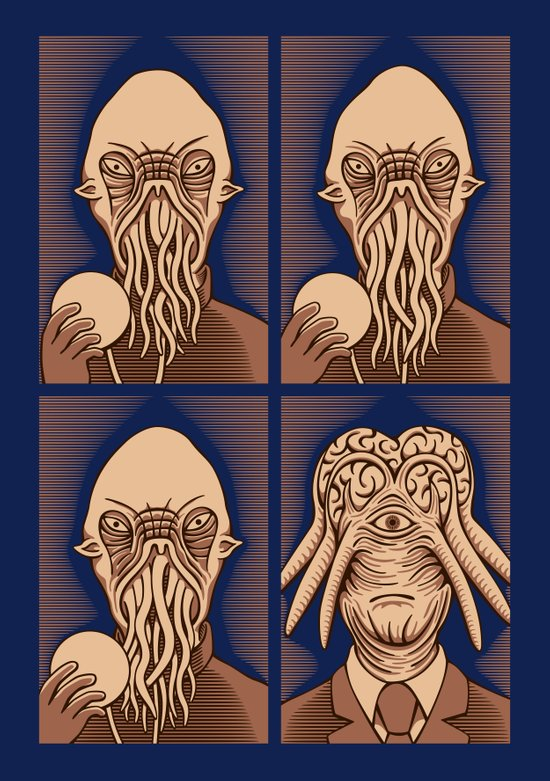 Ood One Out - Dalek Art Print